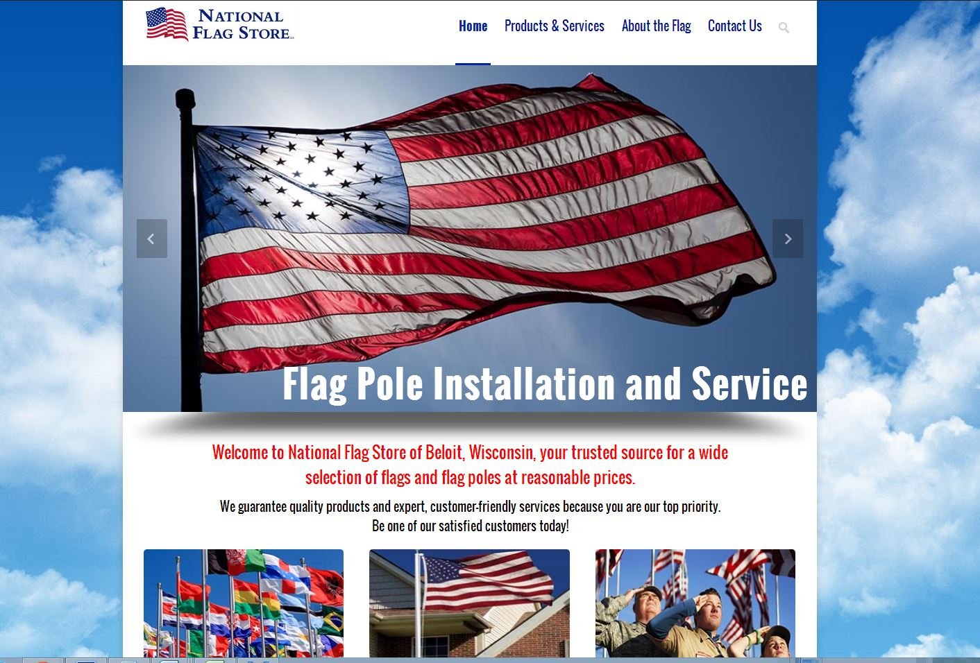 National Flag Store Wisconsin Illinois Beloit website