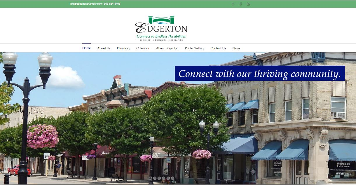 Edgerton Chamber of Commerce Destination Marketing Website Design Wisconsin