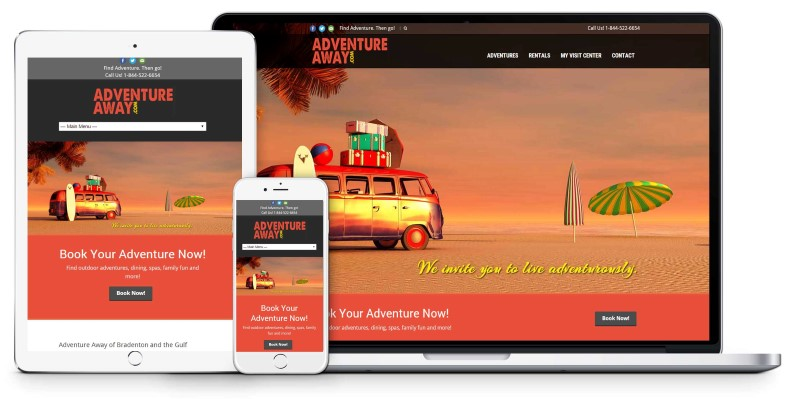 Adventure Away Anna Maria Island Sarasota Bradenton tourism Website Design Firepoint Media (Custom)