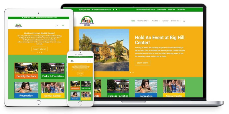 City of Beloit Parks Recreation Website Design Firepoint Media (Custom)