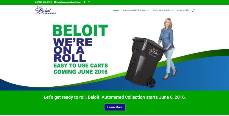 City of Beloit Recycling Waste Solid Waste Website Design