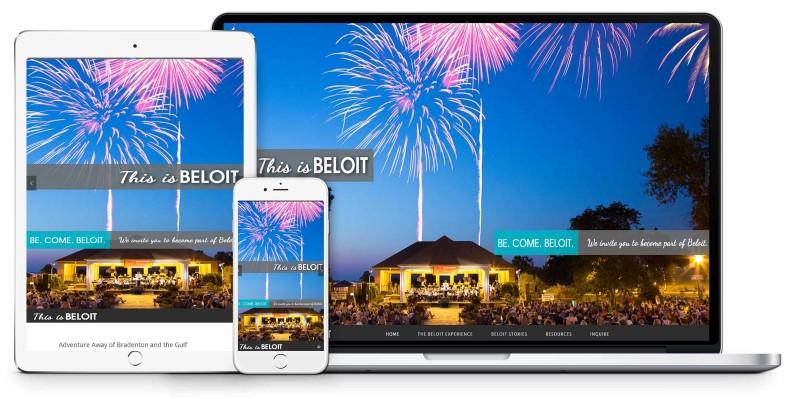 City of Beloit Tourism Chamber Website Design Firepoint Media (Custom)