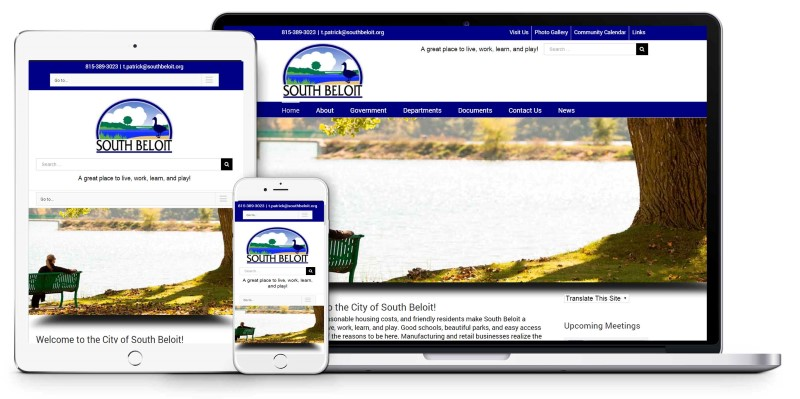 City of South Beloit Municipal Website Design Firepoint Media (Custom) (Custom)