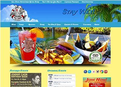 Gill Dawg Marina and Tiki Bar Website Design   Port Richey, Florida