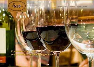 The 615 Club Restaurant Website Design   Beloit, Wisconsin